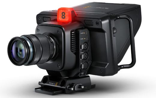 production camera news product shot of Blackmagic Studio Camera 4K Pro