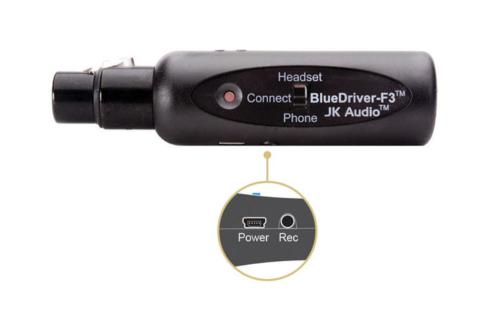 Review: JK Audio BlueDriver-F3 wireless Bluetooth transceiver for ENG 15