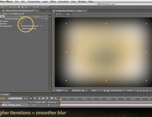 Adobe After Effects Box Blur effect