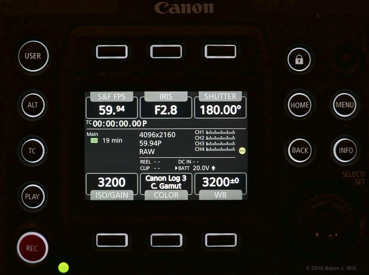 C700 control panel