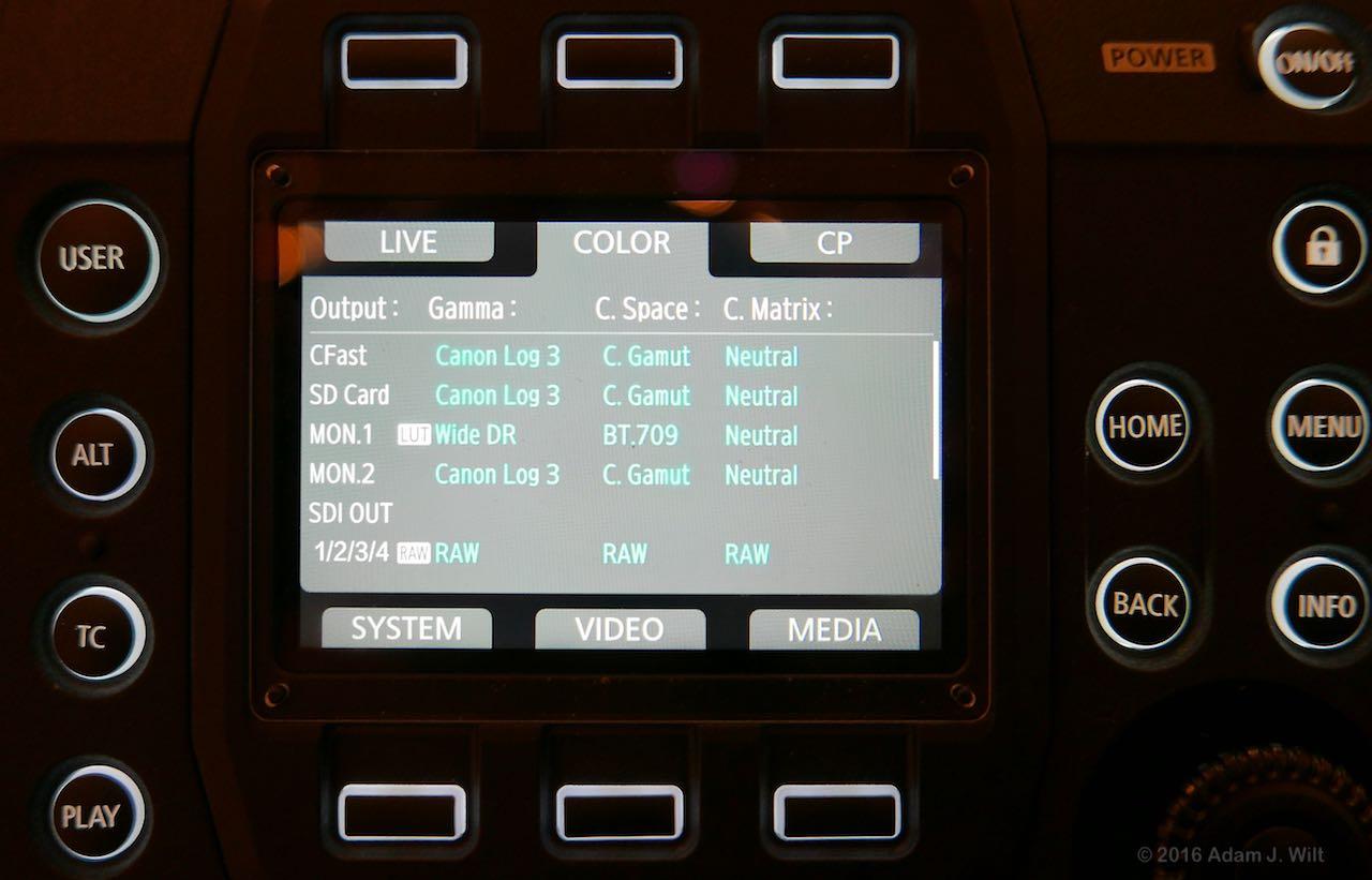 C700 status display