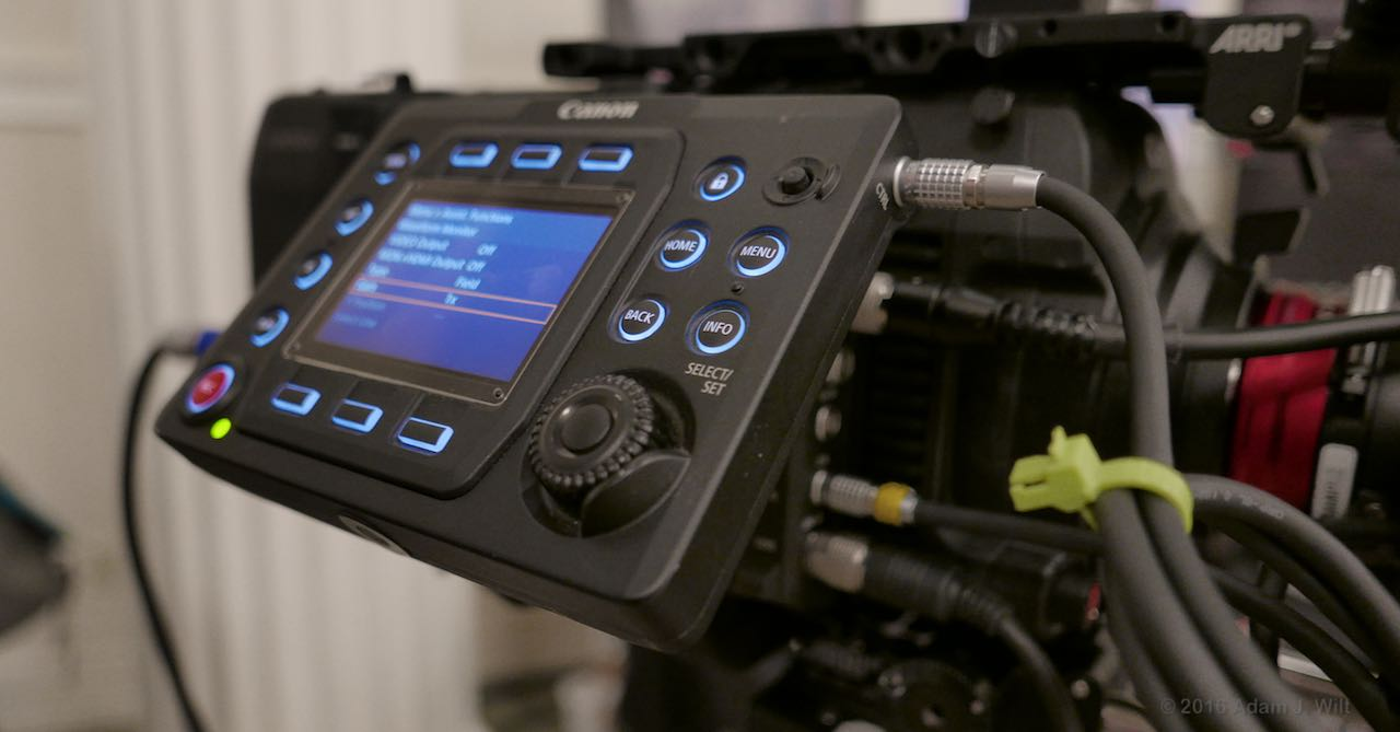 C700 control panel tilted up