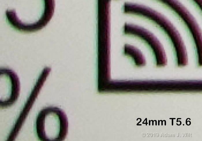 corner CA, 24mm