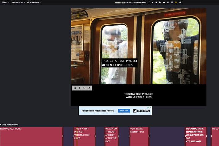 Closed Caption Creator, a free web-based captioning tool
