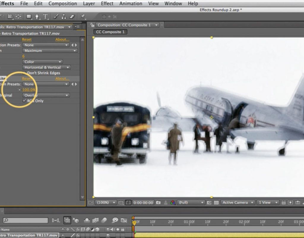 Adobe Affects CC Composite effect