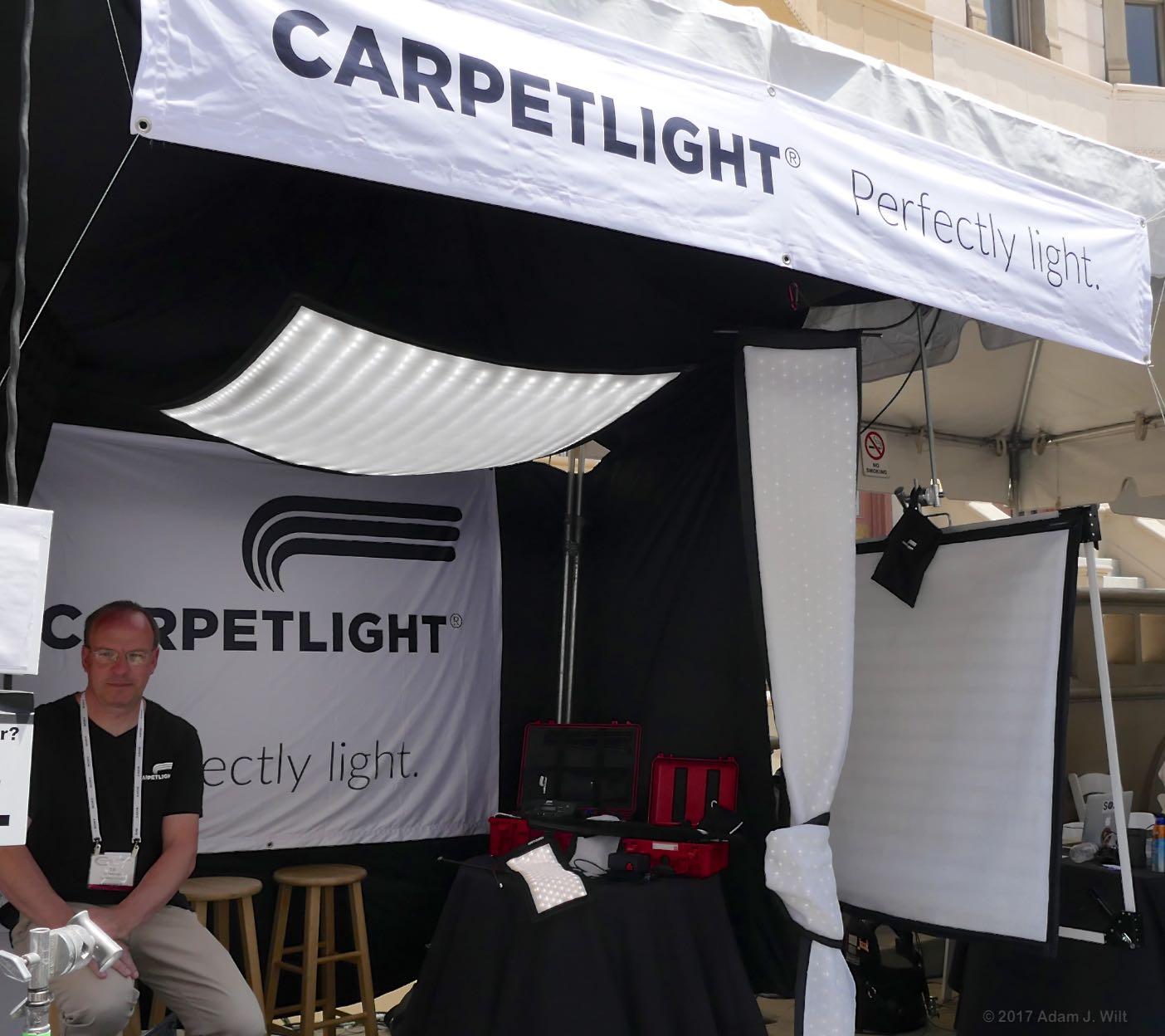 Carpetlight booth