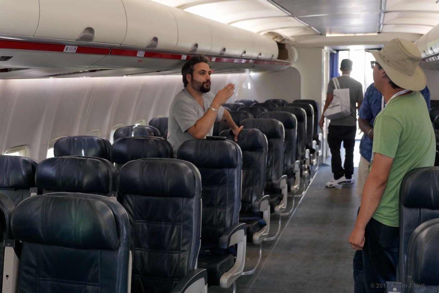 AirHollywood aircraft cabin