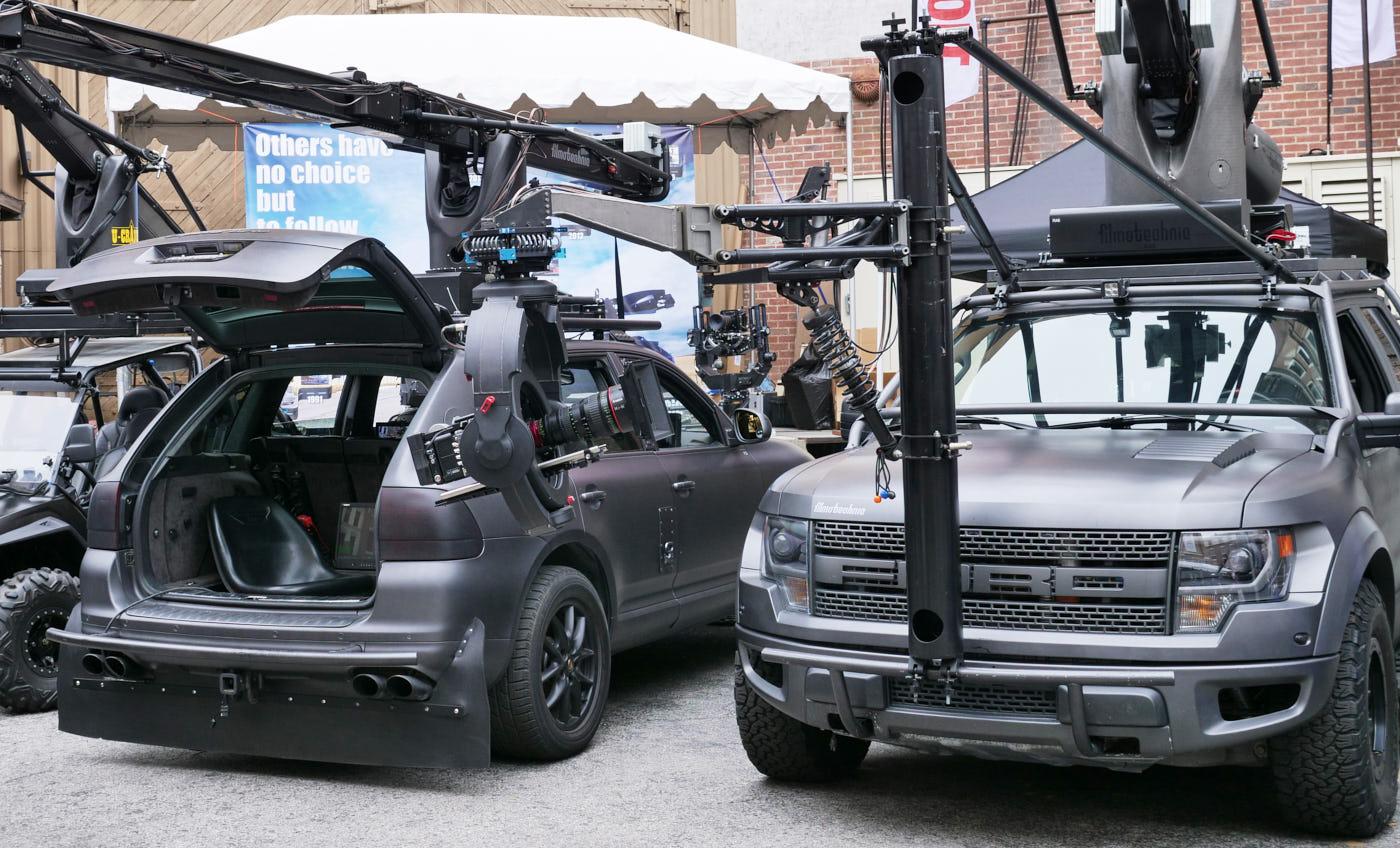 Gray camera cars