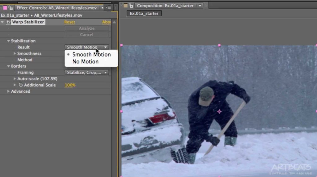 After Effects Classic Course: Warp Stabilizer 1