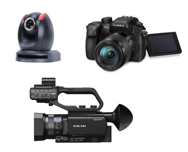 Cameras for TriCaster studio 605