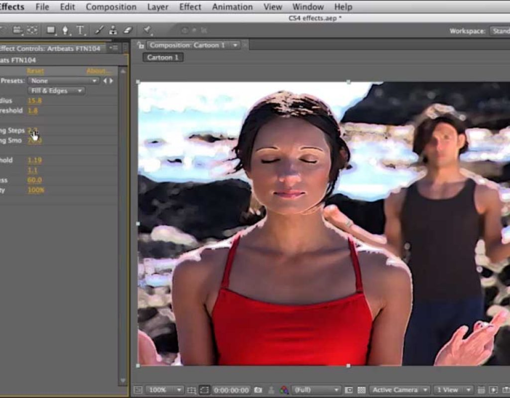 An application of the After Effects Cartoon Effect