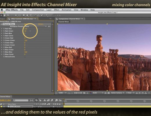 After Effects Channel Mixer