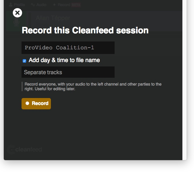 Review: Cleanfeed for remote HQ audio interview recordings: part 1 9
