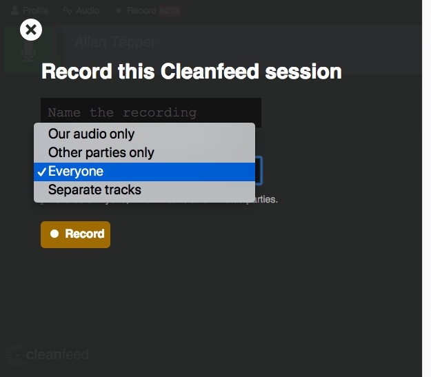 Review: Cleanfeed for remote HQ audio interview recordings: part 1 8