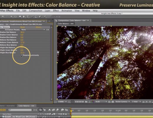 After Effects Classic Course: Color Balance 2 – Creative 4