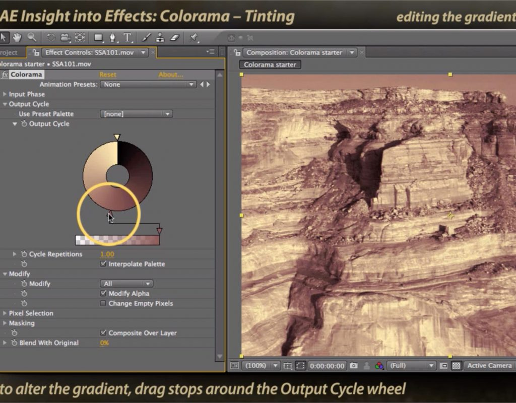 After Effects Classic Course: Colorama 2 – Tinting 1