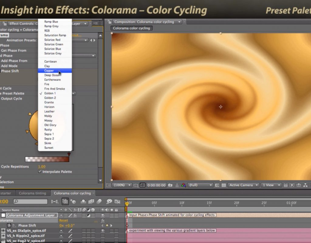 After Effects Classic Course: Colorama 3 – Color Cycling 1