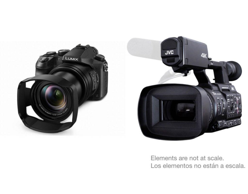 "Compare: Panasonic Lumix DMC-FZ2500 and JVC GY-HC500 1"" type 4K cameras 5"
