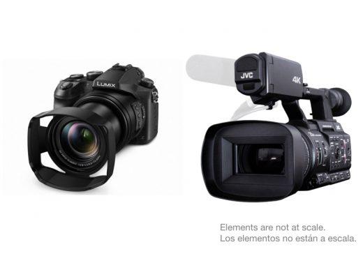 "Compare: Panasonic Lumix DMC-FZ2500 and JVC GY-HC500 1"" type 4K cameras"