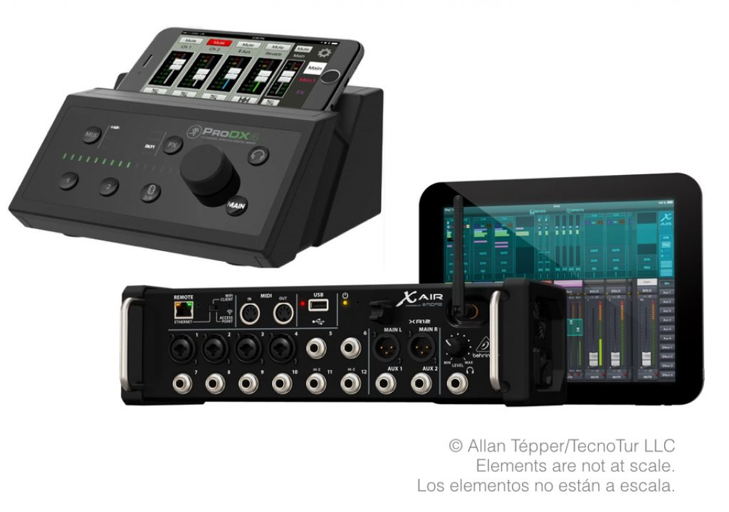 Comparing wireless audio mixer's specs: Behringer/Midas & Mackie 1