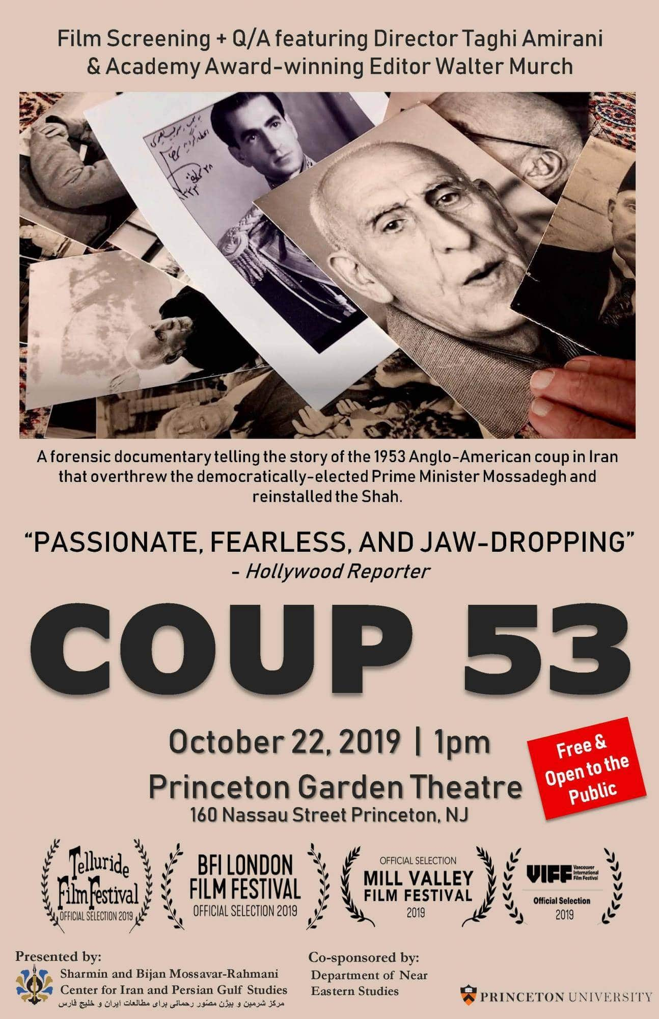"ART OF THE CUT with Walter Murch, ACE, on editing ""Coup 53"" 8"