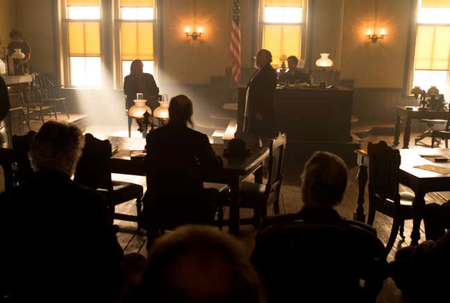 Courtroom wide as shot