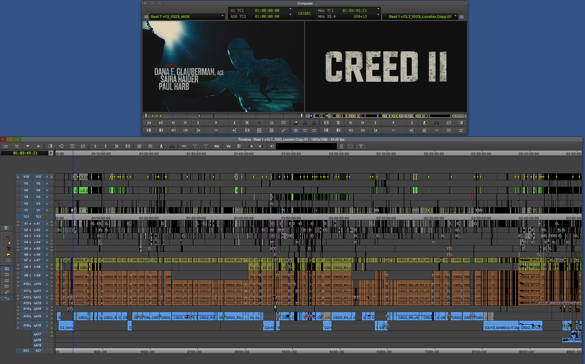 """ART OF THE CUT with the editing team of """"Creed II"""" 38"""