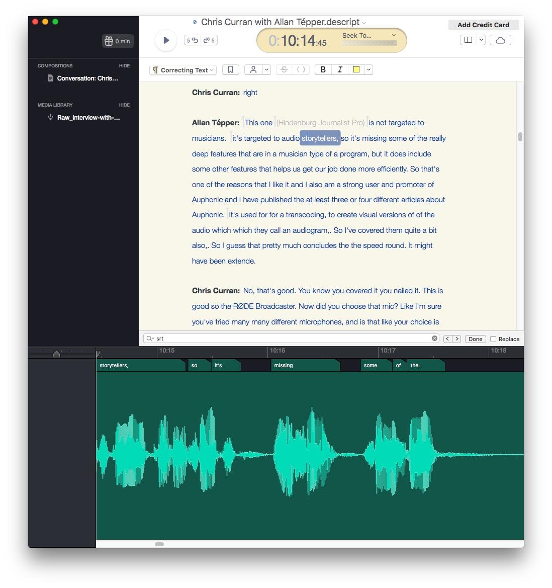 Review: Descript transcription-text-audio-caption/subtitle editor 2