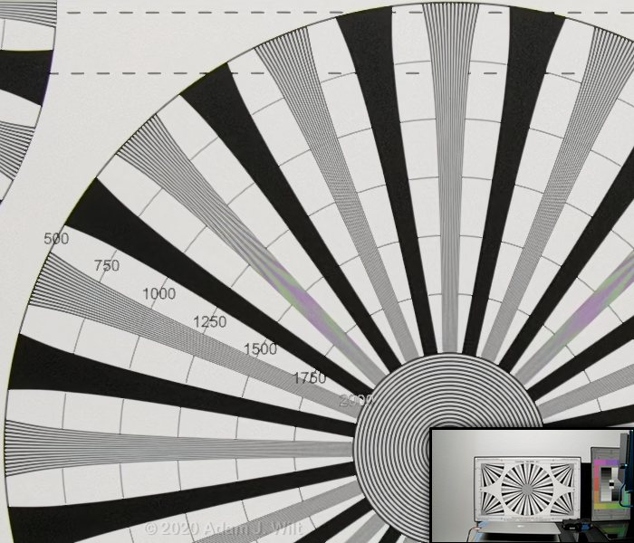 E2-M4 8K resolution chart