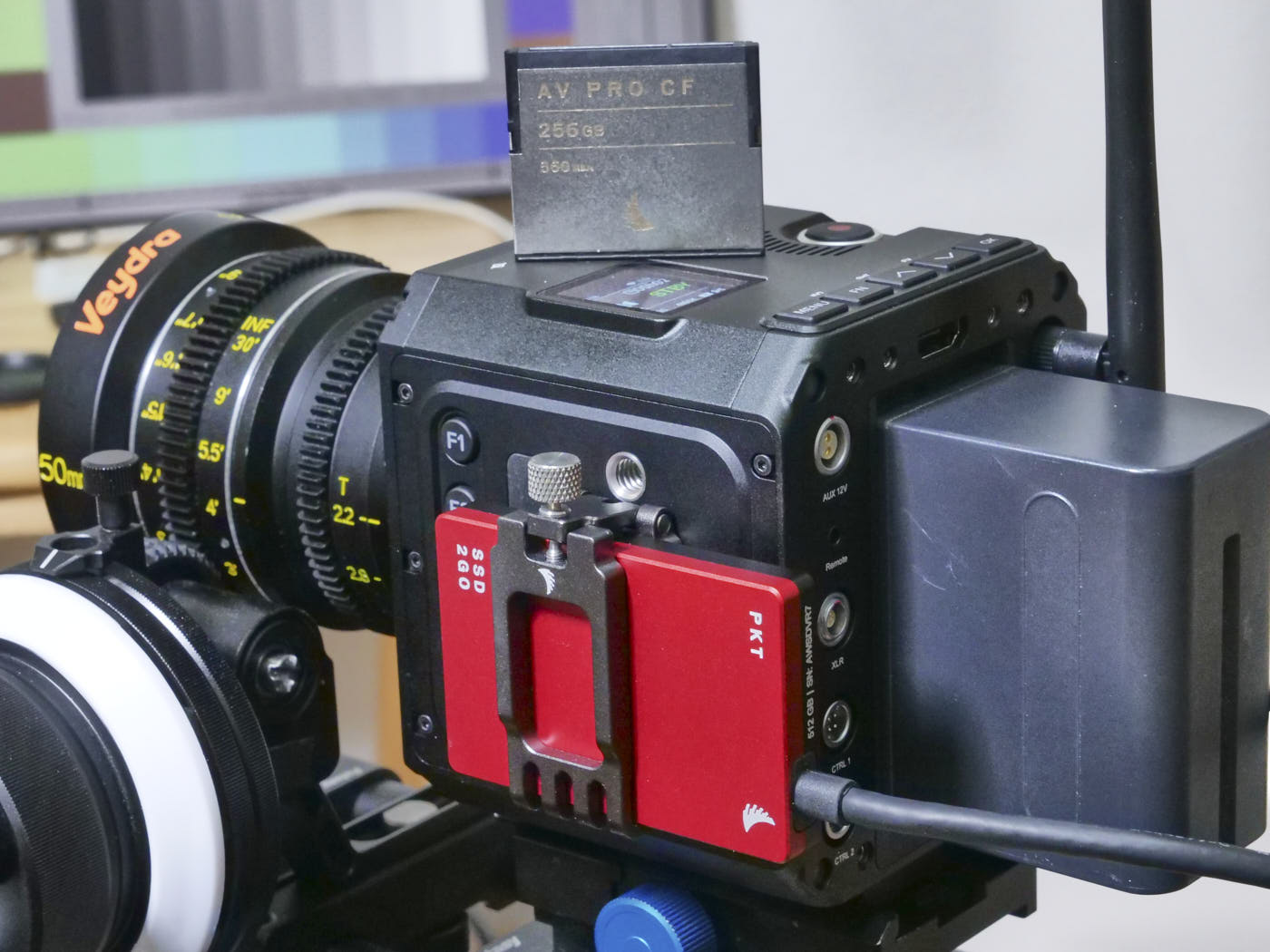 Z Cam E2-M4 with Angelbird CFast card and SSD with external mount