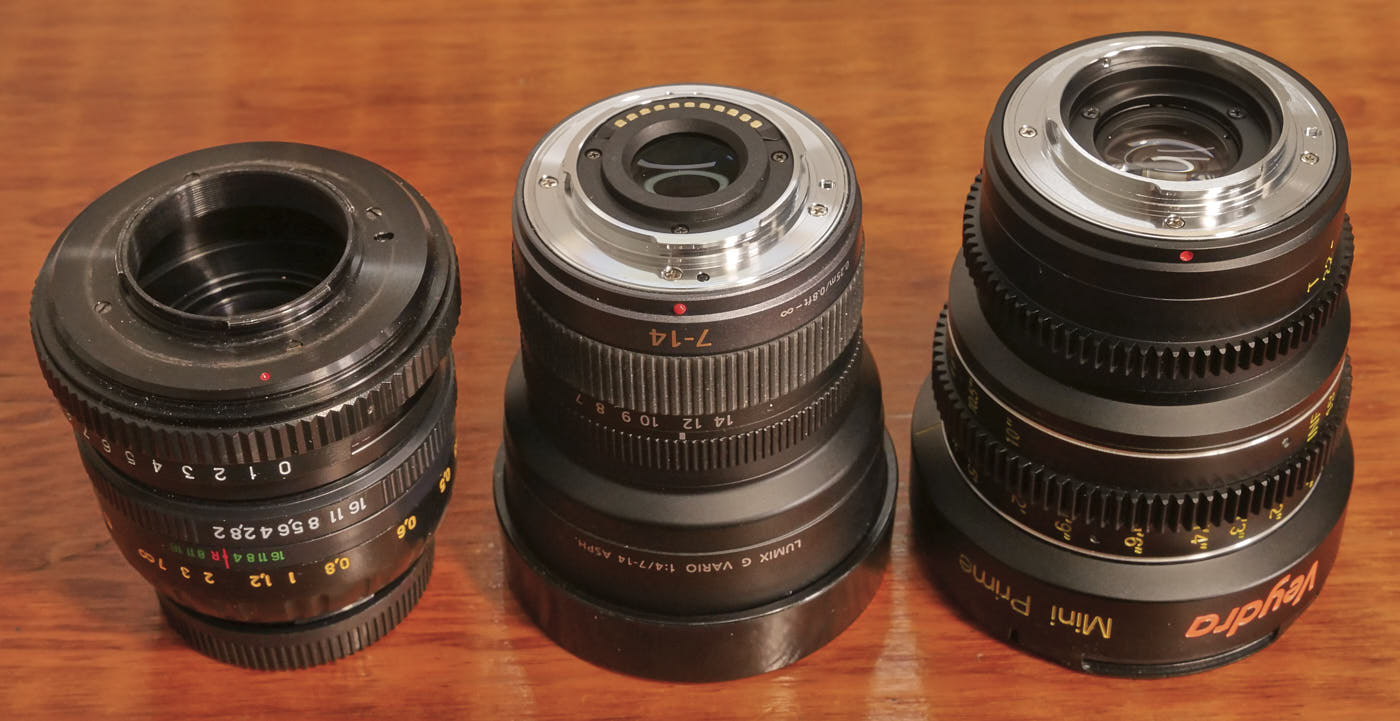 Three MFT lenses