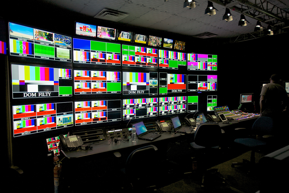 ESPN control room at World Cup