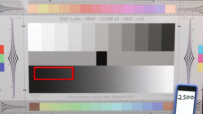 Sample UHD frame, with detail area highlighted.