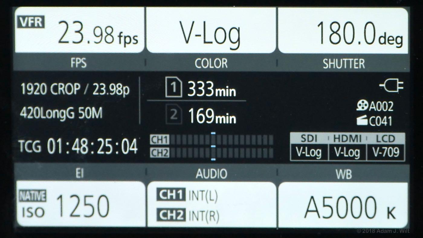 Review: Panasonic AU-EVA1 4K Cine Camera, part 2 by Adam
