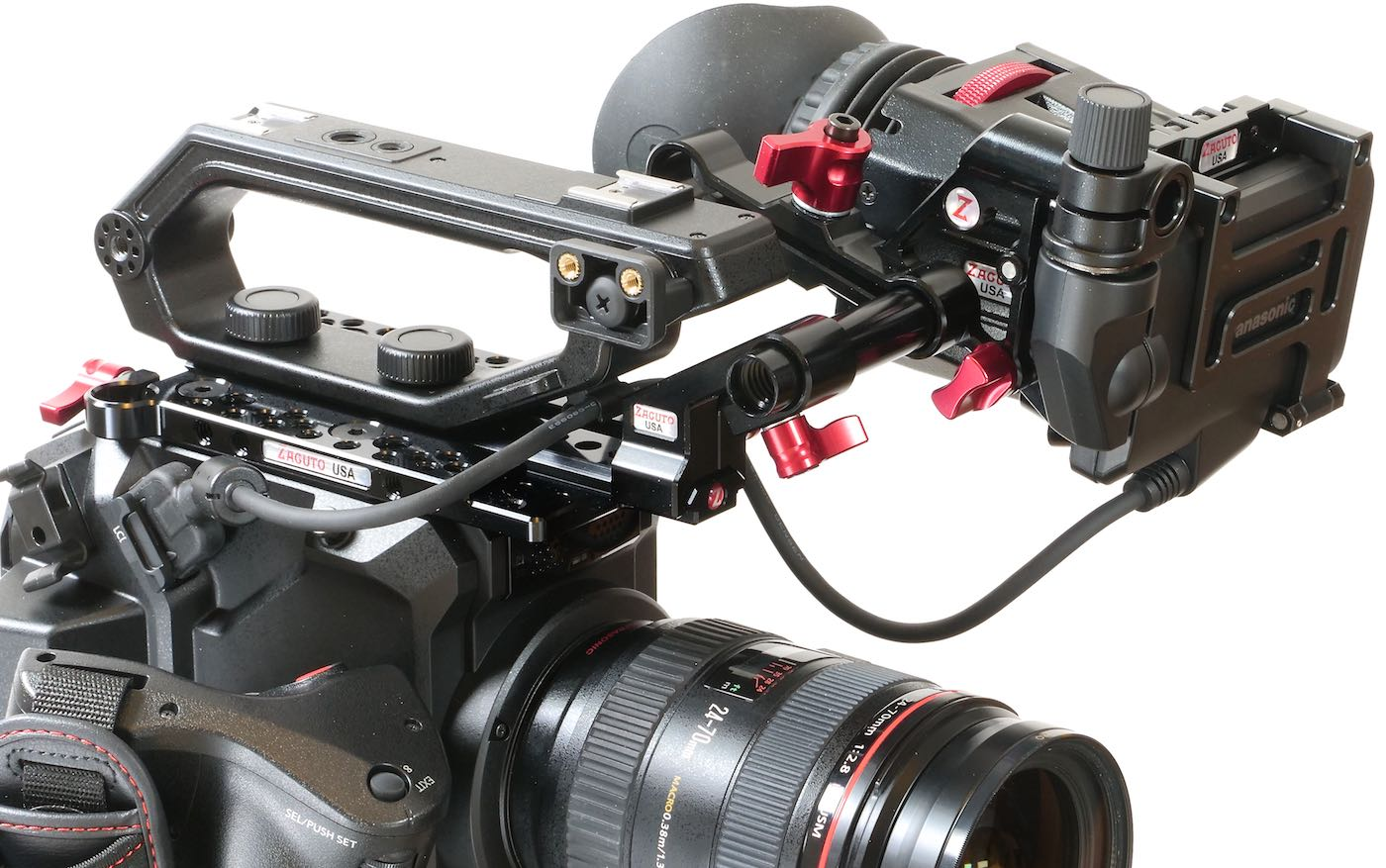 Zacuto Z-Finder rig on EVA1.