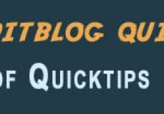All of the 2011 28 Days of Quicktips quicktips all in one place