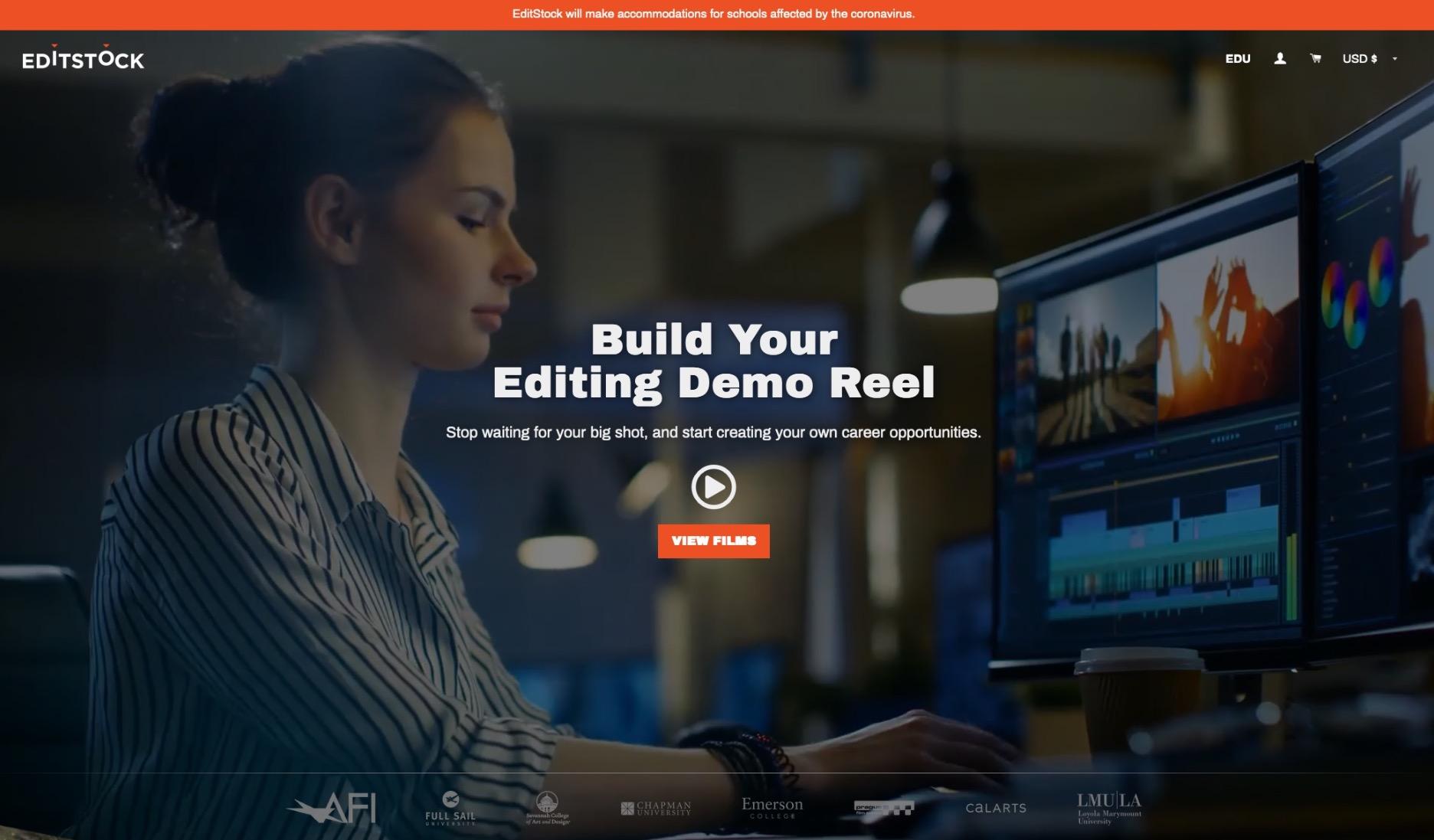 Editstock Splash Screen 2