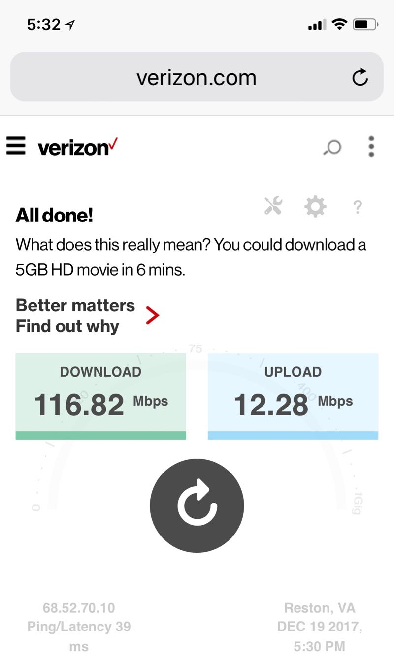 Speedtest verizon