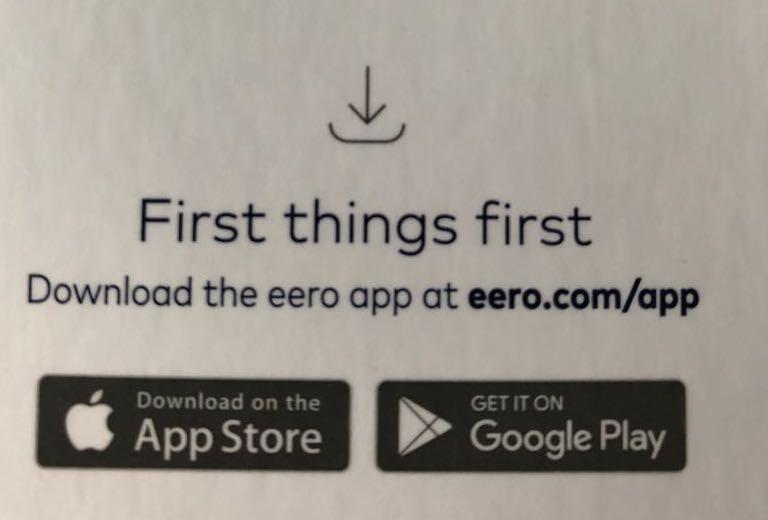 Eero download card