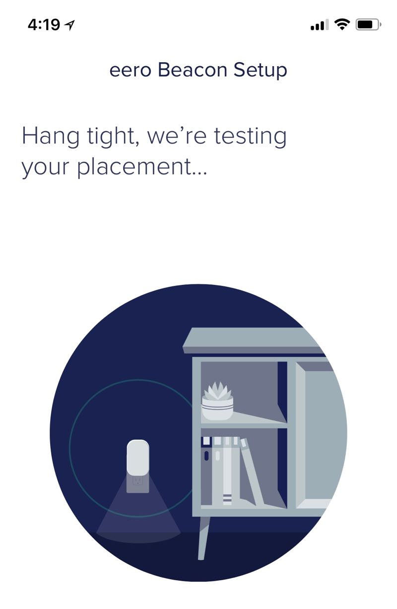Eero app testing placement