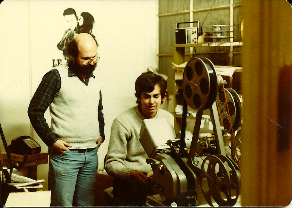 Mark Goldblatt editing with a Moviola