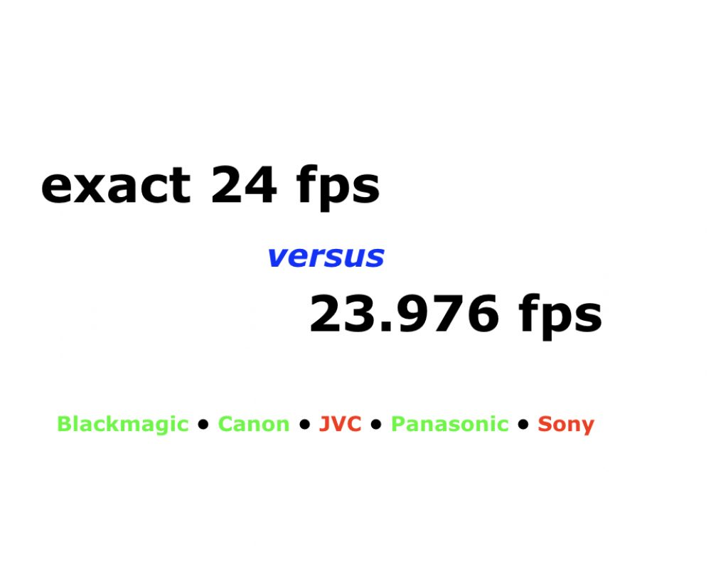 When exact 24 fps beats 23.976… and when it doesn't 7
