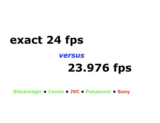 When exact 24 fps beats 23.976… and when it doesn't