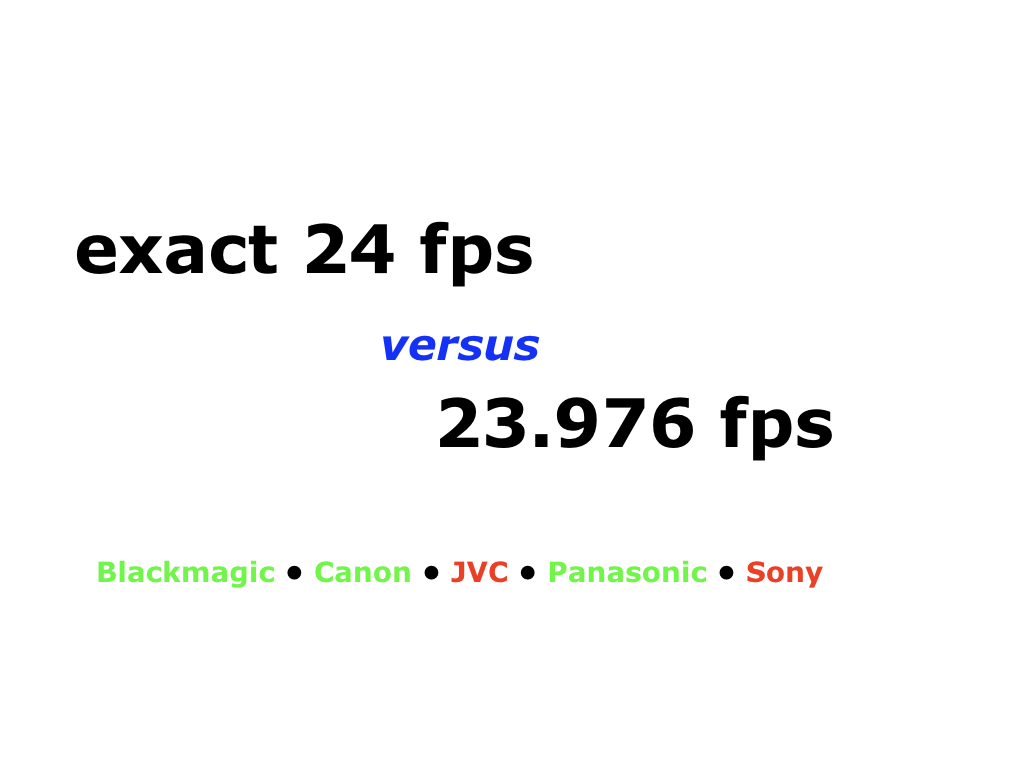 When exact 24 fps beats 23 976… and when it doesn't by Allan