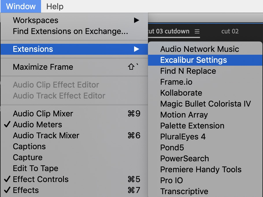 Excalibur adds more speed and less mouse to Adobe Premiere Pro 11