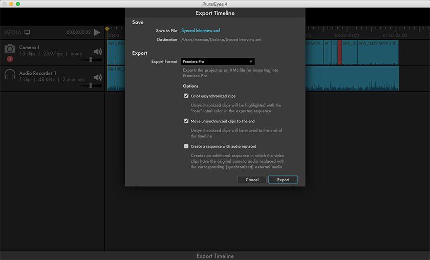 Export Premiere Pro