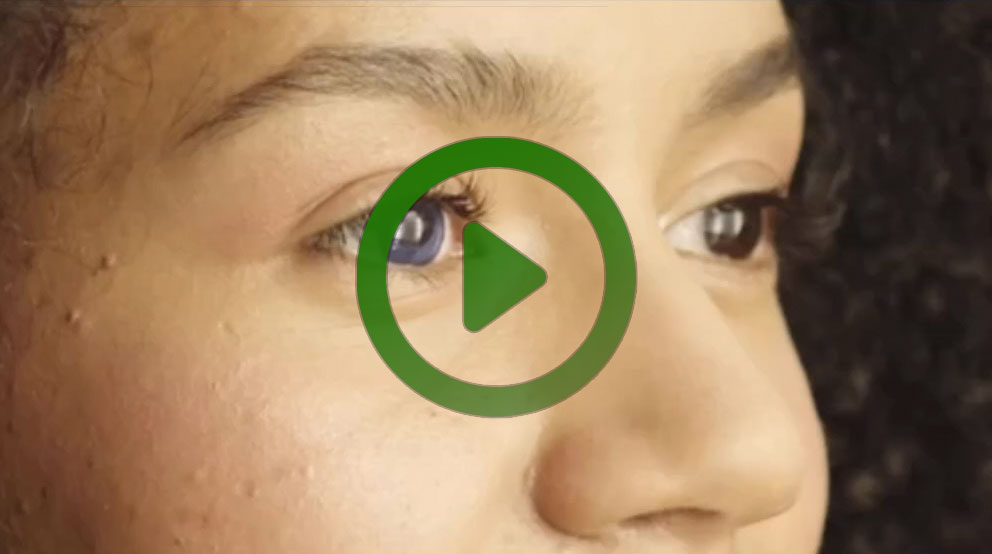 Watch the free moviola video on color correcting eyes