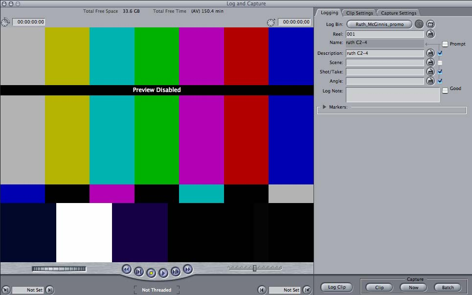 I miss digitizing footage from video tape 15