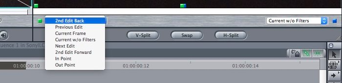 FCP Frame Viewer menu