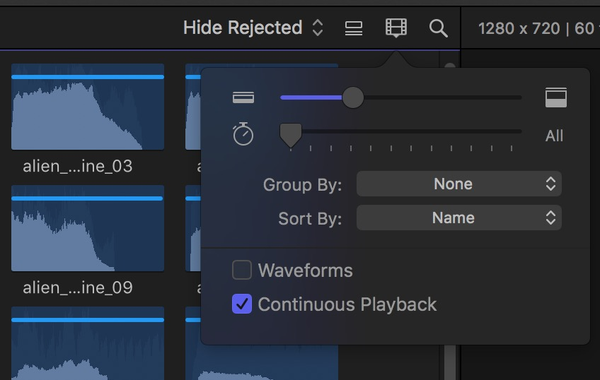 Final Cut Pro X continuous playback